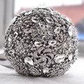Accesorios Broche ramo de boda de lujo de Marfil Gris Crystal Wedding Bouquet de Seda de flores de La Boda Ramos de Novia FE9