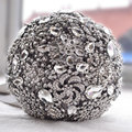 Luxurious wedding accessories Brooch bouquet Ivory Gray Crystal Wedding Bouquet Silk Wedding flowers Bridal Bouquets FE9