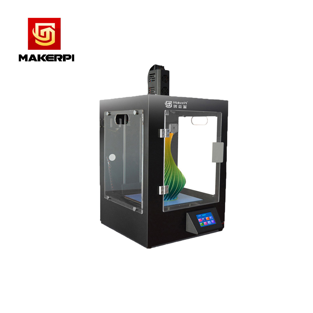 MakerPi Fully Enclosed Mix-Color Printing 3D Printer Machine w/Filament Dual Extruder For Drop Shipping 3