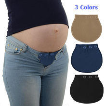 Maternity Waistband Elastic Extender Soft Pants Belt Extension Buckle Button Lengthening Pregnant Women Pregnancy Adjustable(China)