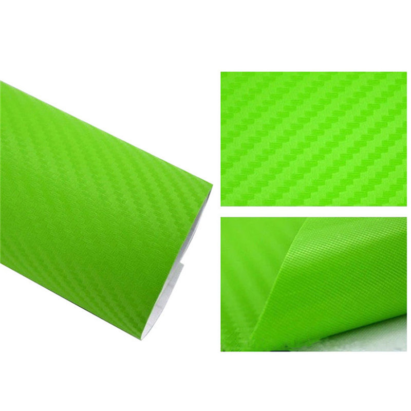 127cmx10/20 см 3D виниловая пленка из углеродного волокна для автомобиля, рулонная пленка, наклейка на машину, мотоцикл, наклейки для автомобиля, аксессуары для интерьера - Color Name: Green
