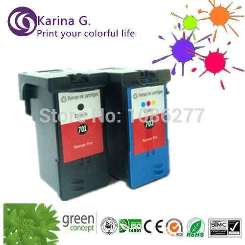 ФОТО 2X Ink Cartridge For DELL KX701 703 Remanufactured Color Ink Cartridges For Dell 948/V505/V505W