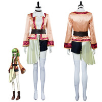 Code Geass CC Cosplay Lelouch of the Resurrection Season 3 C C Dress Cosplay Costume Halloween Carnival Cothes Custom Made
