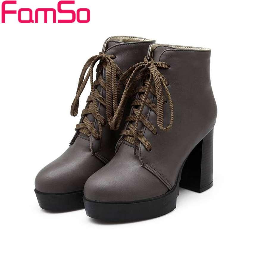 Free shipping 2016 New Sexy font b Women b font Boots High Heels Autumn Martin Boots