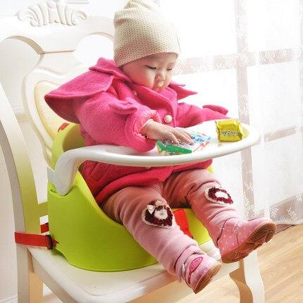Легкий Вес Ребенка Стульчик Для Кормления Портативный Ребенок Обеденный Стул Мягкий Многофункциональный Регулируемый Большая Тарелка Детский Стульчик Сиденья C01