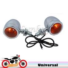 Motorcycle Front Rear Turn Signal Indicator Lights for Honda Shadow Aero Spirit 750 VT VTX Harley Chopper Cruisers Cafe Racer