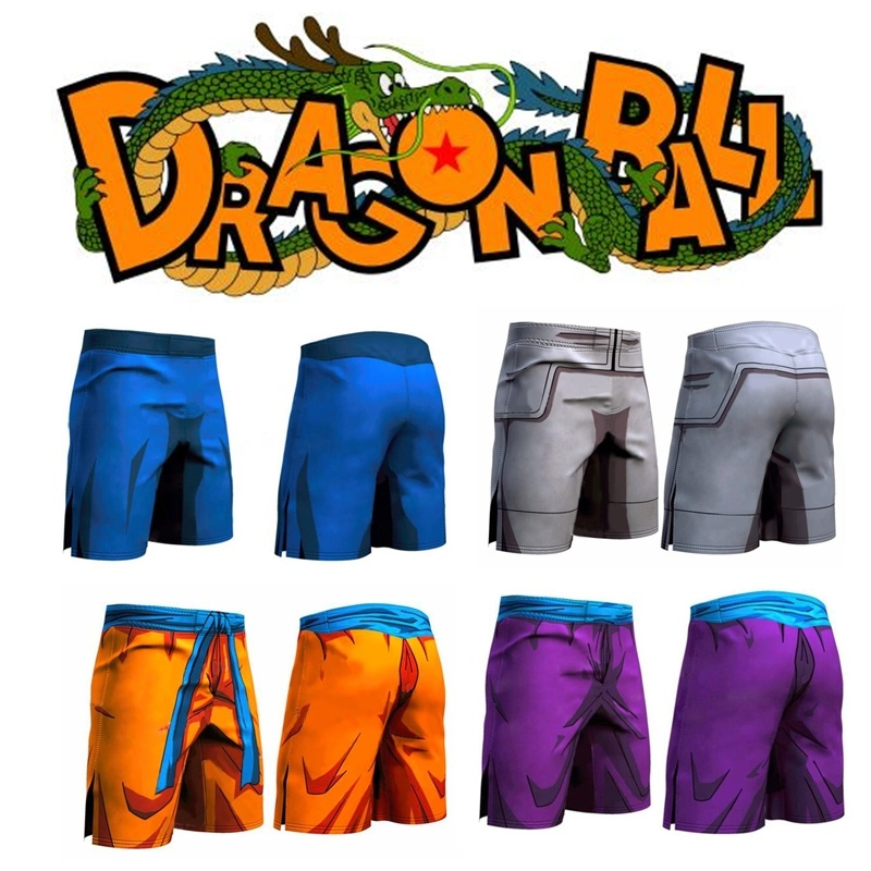 ZOGAA Men's 3D Anime Print Shorts Dragon Ball Goku Cartoon Shorts Men's Sports Fitness Pants Saiyan Vegeta Male Vacation Shorts