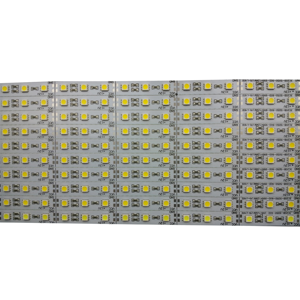 10pcs/lot 50cm 12v led rigid hard strip aluminium bar lights Super bright Korea 5050 SMD36 SMD 18W/M LED Hard Rigid LED Strip