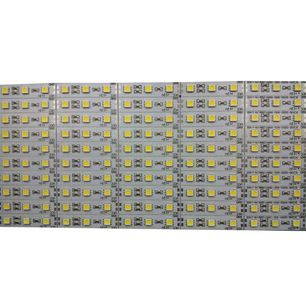 10pcs/lot 50cm 12v led rigid hard strip aluminium bar lights Super bright Korea 5050 SMD36 SMD 18W/M LED Hard Rigid  Strip