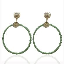 Earrings ladies popular exaggeration new brand natural crystal Brincos earrings ears Pendientes Christmas gift 2019