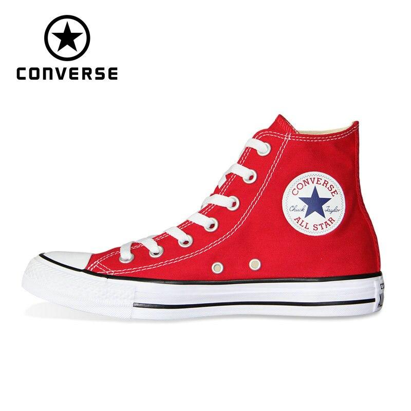 Converse all star обувь новый оригинальный для мужчин и женщин унисекс Высокие Классические обувь для скейтборда, кроссовки 101013