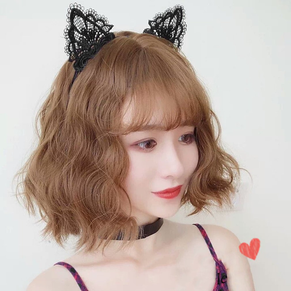 Women's Lace <font><b>Cat</b></font> Ears <font><b>Sexy</b></font> Headband Party Hair Band Headdress Christmas Party Costume Hair <font><b>Accessories</b></font> Cute Kitten Hairbands image