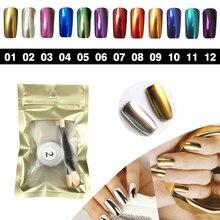 12 Colors 1g box Shinning Nail glitter DIY nail art mirror powder chrome pigment glitters magic