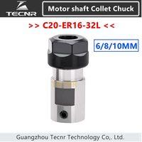 Spindle Motor Clamp Tool Rod C25 ER16 32L 6mm 8mm 10mm Shaft Motor Lengthened Clamping Knife