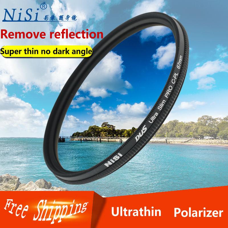 nisi 37 40 40.5 46 49 52 55 58 62 67 72 77 82 86 95mm PRO CPL Ultra-thin Lens filter for canon nikon pentex sony camera