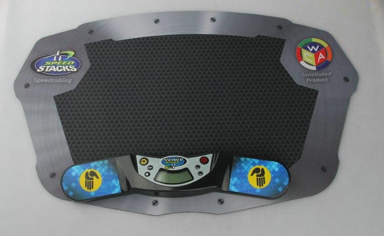 3 Sets/Lot SS Professionnel Minuterie Horloge Machine pour Vitesse Puzzle Cube Accessoire pour Concurrence Jeu Vol Pile Pack Tapis - 5