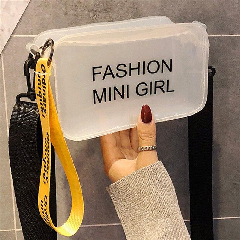 Women Clear Jelly Bag Candy Color Tote Bag Satchel Handbag Transparent PVC  Bag Designer Purse Crossbody Bag b0598d520e8eb