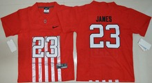 2016 Nike Youth Ohio State Buckeyes Lebron James 23 College Ice Hockey Jerseys Elite Jersey - Red Size S,M,L,XL(China)