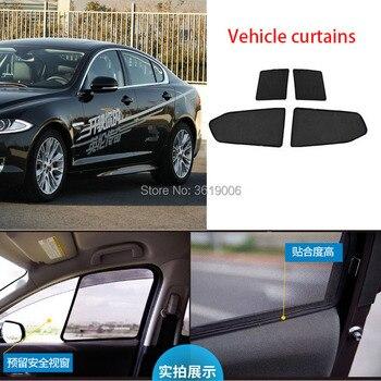 4pcs High-end custom For Jaguar XF 2013 card type magnetic car curtain sun shade car window shade car styling