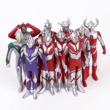 Ultraman Tiga Leo Jack Ace Taro Zoffy Sete Pai/mãe de Ultra Ação PVC Figuras Crianças Brinquedos Presentes 16 cm 11 pçs/set