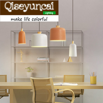 Qiseyuncai Nordic kreative persönlichkeit massivholz E27 einzigen kopf aluminium kronleuchter modernen minimalistischen Kronleuchter