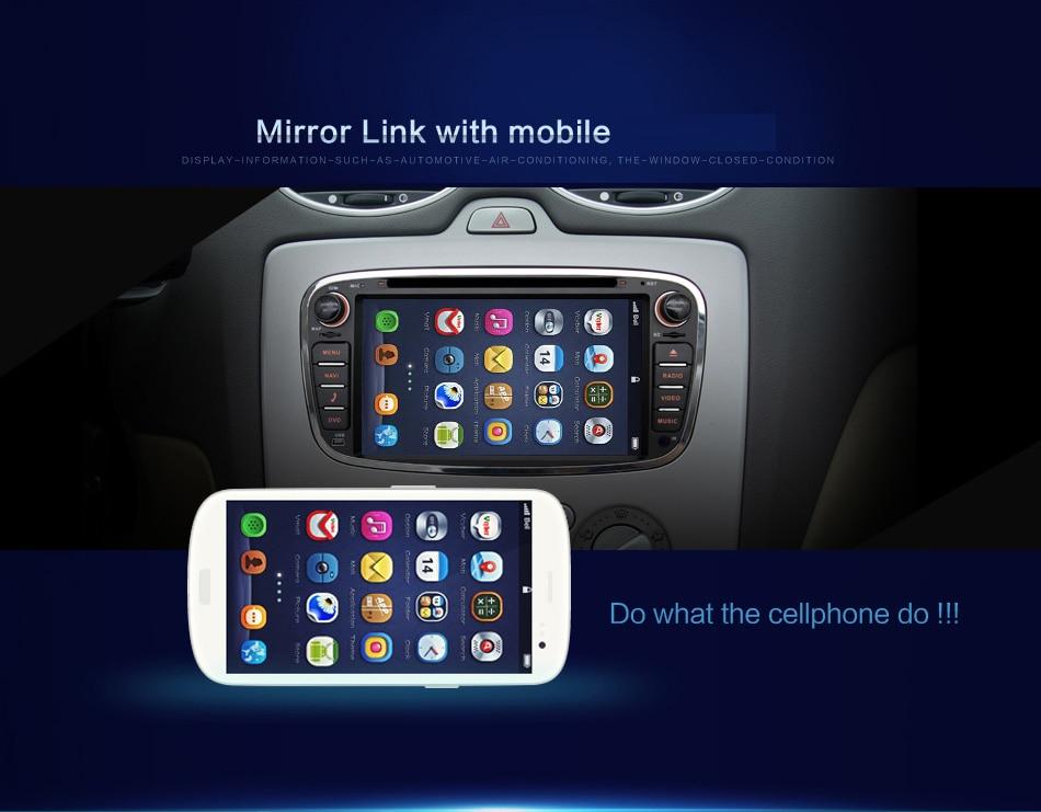 Ford Focus 2 S-max Mondeo C-max 1GB Ram 16GB ROM Güzgü wifi 3G dvd - Avtomobil elektronikası - Fotoqrafiya 3