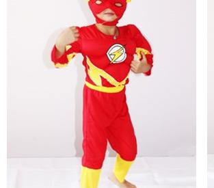 Girls Boys anime cosplay Muscle Flash Costume Costumes Cosplay for Kids Children Free Shipping