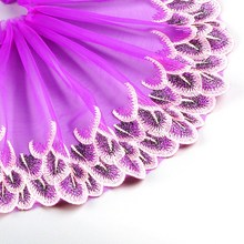 20*100cm  Embroidery Peacock Lace Design Mesh Fabric Tissu Costura Mesh Lace Line Lace Sewing DIY Doll Cloth Tulle Fabric lace fabric 1yard lot high quality lace trim embroidery mesh lace ribbon tulle guipure cord lace sewing diy doll cloth