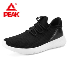 PEAK Men Urban Casual Shoes MD Technology Outsole Mesh Breathable Walking lightweight Runing jogging Sneakers