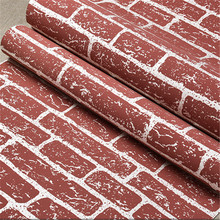 beibehang Korean 3D non-woven fabric brick wallpaper clothing store specialty restaurants wedding shop white foam wallpaper(China)