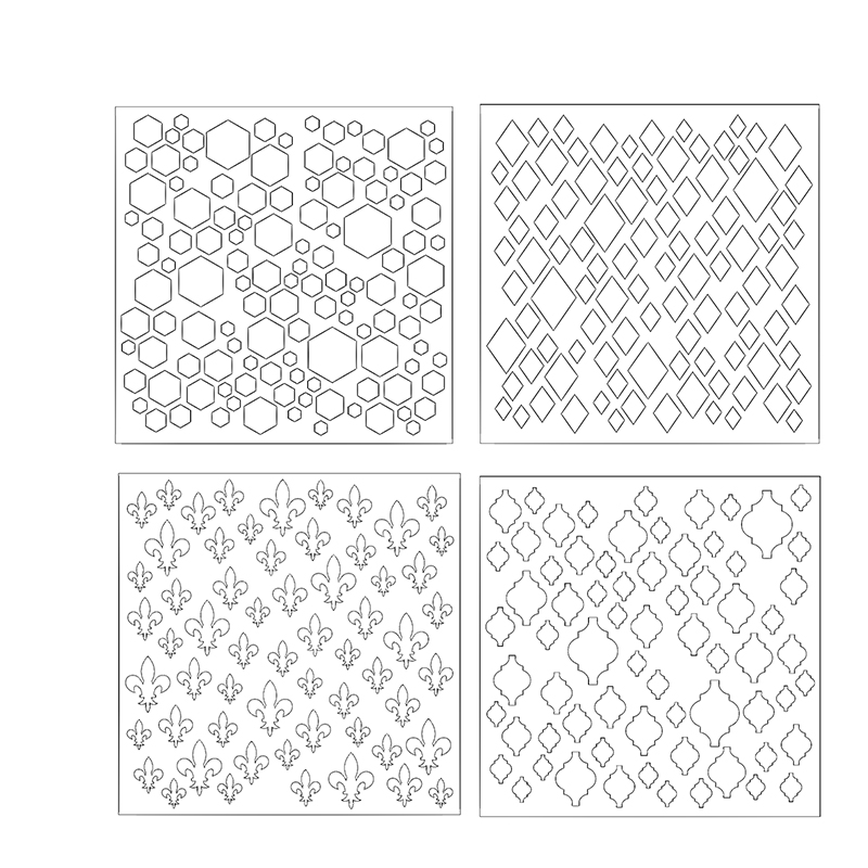 Diamond Hexagon Lantern Plastic Stencils For DIY Scrapbooking Paper Cards Crafts Drawing Sheets Templates