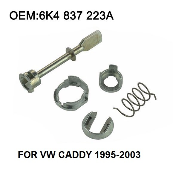 Car Iron Door Lock Cylinder Repair Kit For For VW Caddy 1995-2003 2/3 and 4/5 - Doors, front left or right 5 Piece 6K4837223A
