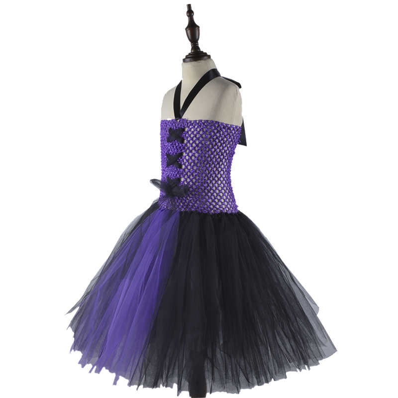 b44d44b40 ... Purple Black Girls Party Dresses Little Witch Costume Baby Kids Tutu  Dress Vestido Fancy Clothing for ...