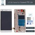 """Para huawei p8 lite touch screen display lcd digitalizador pantel 5 """"pantalla com substituição quadro assembléia branco preto + ferramentas"""