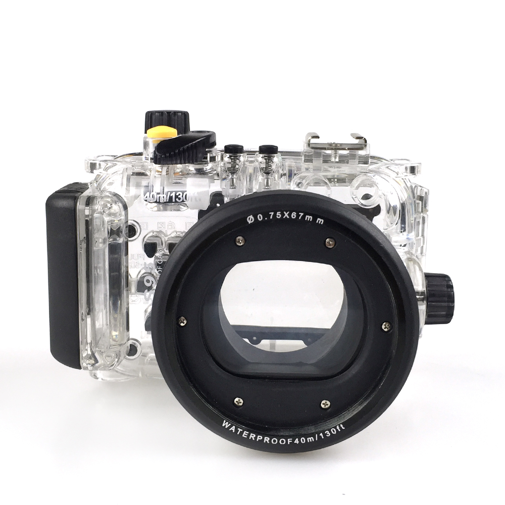 40m Underwater Camera Waterproof Housing for Canon S95 Camera Transparent Case Scuba Diving Swimming Photography in Rainy Cover