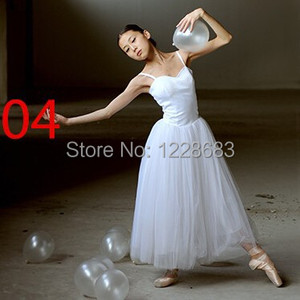 Image 1 - جديد إمرأة كلاسيكي محترف طويل باليه غنائي فستان رقص راقصة الباليه توتو تنورة الكبار فستان غنائي طويل