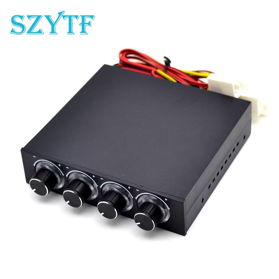 Controlador de ventilador de velocidad de 4 canales STW-6002 con controlador GDT LED azul y CPU HDD VGA