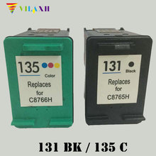 Vilaxh 131 Compatible Ink Cartridge Replacement for HP 131 135 For Deskjet 460 5743 5940 Photosmart 2573 2613 PSC 1600 Printer