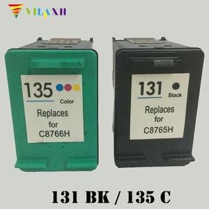 Vilaxh 131 Compatible Ink Cartridge Replacement for HP 131 135 For Deskjet 460 5743 5940 Photosmart 2573 2613 PSC 1600 Printer