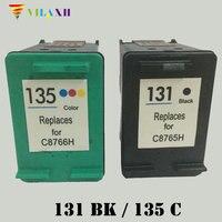1set For HP 131 135 Black Color Ink Cartridges For HP DJ 2710 2610 325 PSC2355