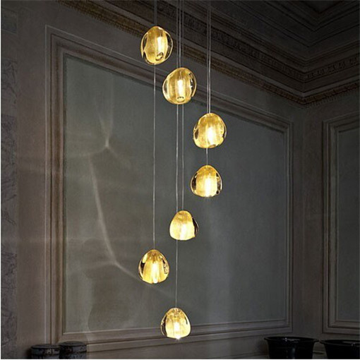 Terzani Modern crystal glass sphere ball chandelier mizu many head pendant lamp Terzani ceiling lamp Terzani