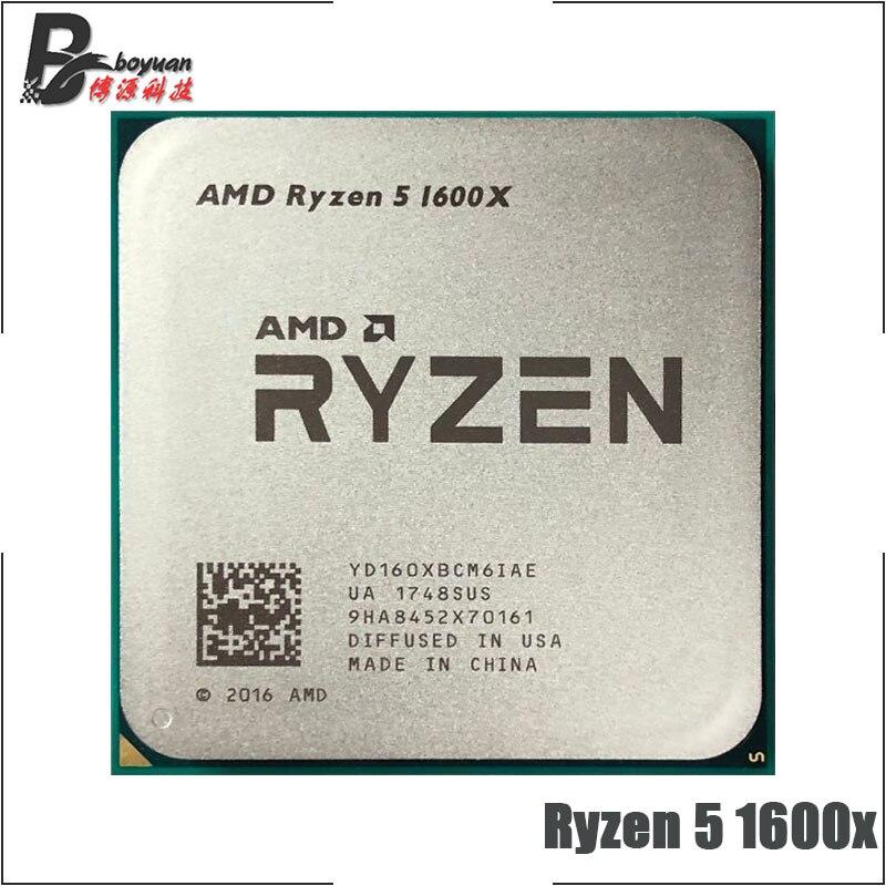 AMD Ryzen 5 1600X R5 1600X 3 6 GHz Six-Core Twelve-Thread CPU Processor 95W  L3=16M YD160XBCM6IAE Socket AM4