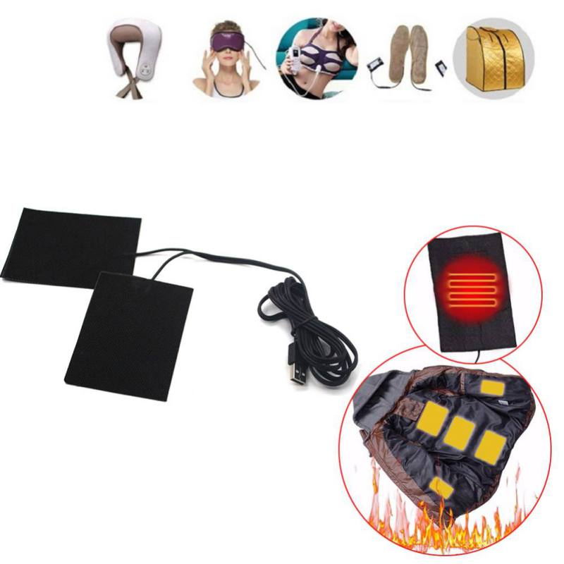 1 Set Electric Heating Pads Thermal Clothes Warmer Heated Jacket Mobile Warming USB Switch For DIY Heated Clothing