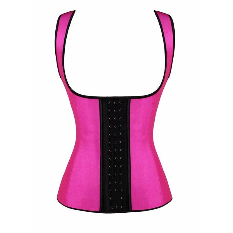 Latex Waist Trainer Vest Corset Body Shaper 9 Steel Bones Tummy Control Slimming Corsets Modeling Strap Slim Shapewear