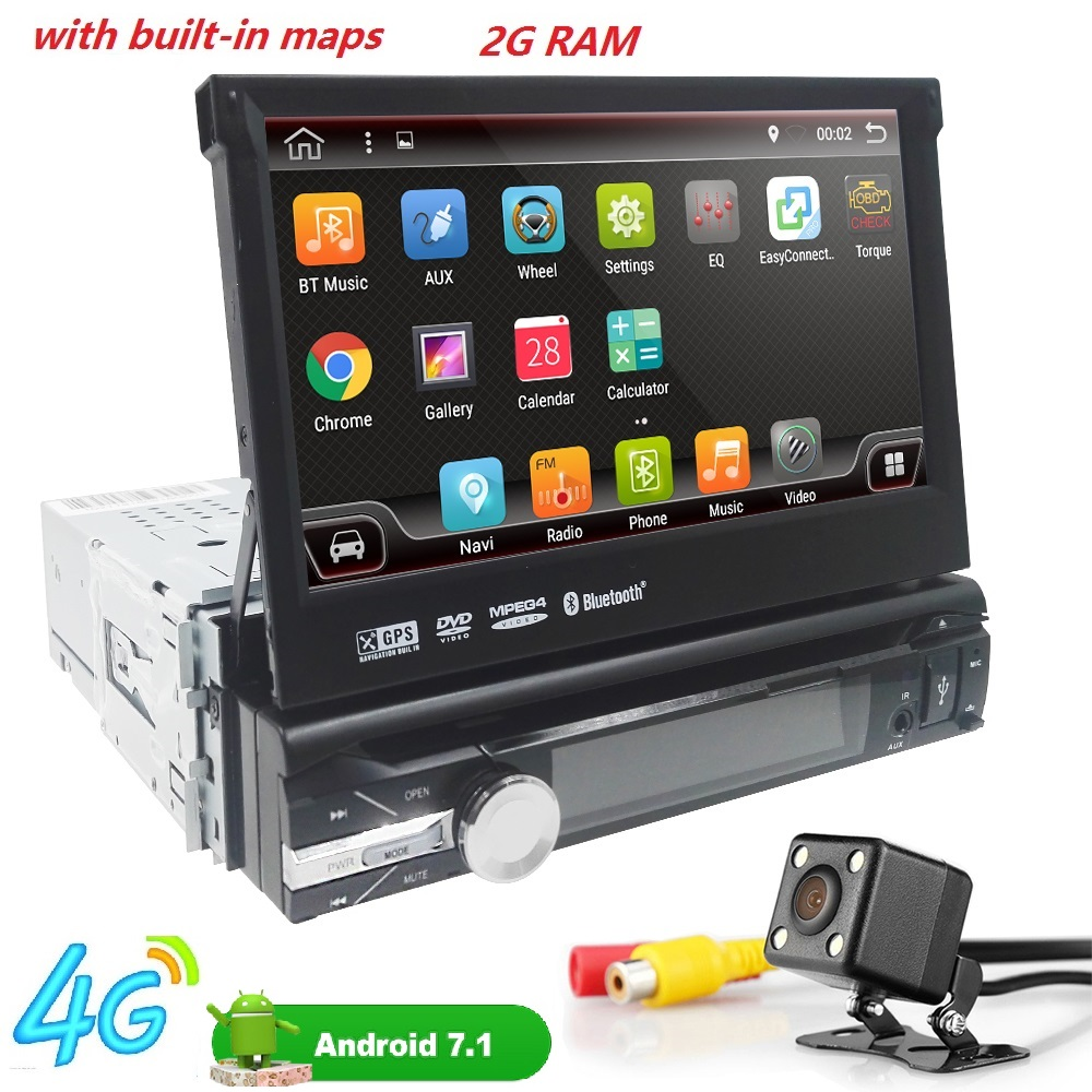 7 1din GPS AutoRadio Android 7.1 Car DVD Multimedia player for BMW Head unit AudioStereo gps Navigation Wifi BT 4G SWC OBD CD