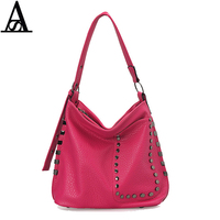 Aitesen 2017 PU Leather Rivet Handbags Vintage Women Famous Brands Channel Party Tote Sling Bags Louis