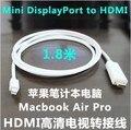 "Masculino 1.8 m 3 m 6FT Mini Displayport DP para HDMI cabo adaptador para apple mac macbook pro retina 11 "" 13 "" 15 """