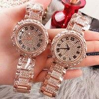 2019 Lady Crystal Watch Women Dress Quartz Female Clock Fashion Rose Gold Diamond Women Watches Gifts For Women Relogio Feminino