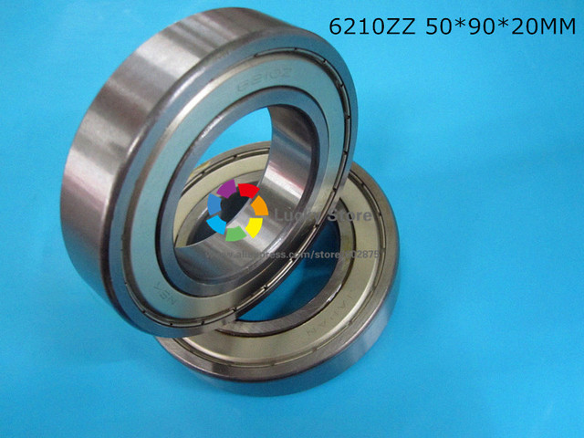 6210 6210ZZ 1Piece bearing  CHROME STEEL DEEP GROOVE BEARING 6210 6210Z 6210ZZ 50*90*20mm