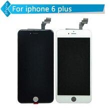 5 unids/lote no pixel muerto para iphone 6 plus pantalla lcd con Pantalla Táctil Digitalizador Asamblea Reemplazo Libre de DHL Negro/blanco